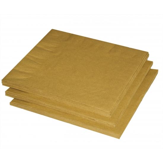 Gouden servetten 20 stuks
