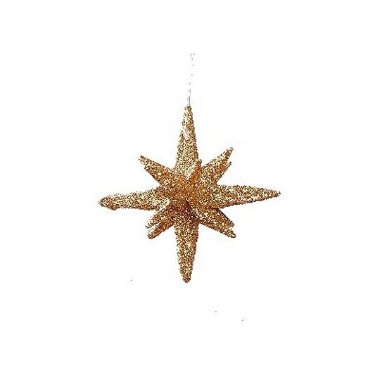 Gouden sterren 3D 7, 5 cm