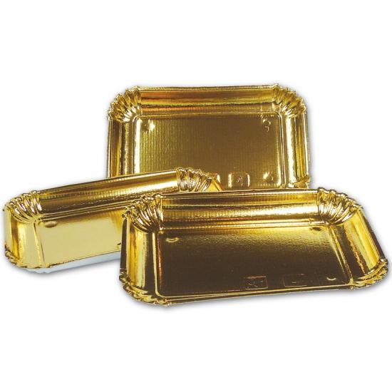 Goudkleurige schalen van karton
