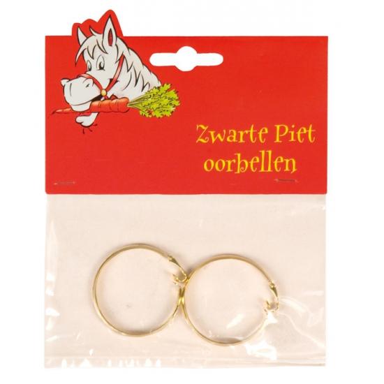 Goudkleurige Zwarte Piet oorbellen