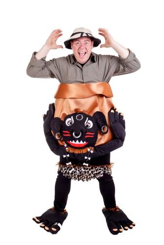 Grappig kannibalen kostuum