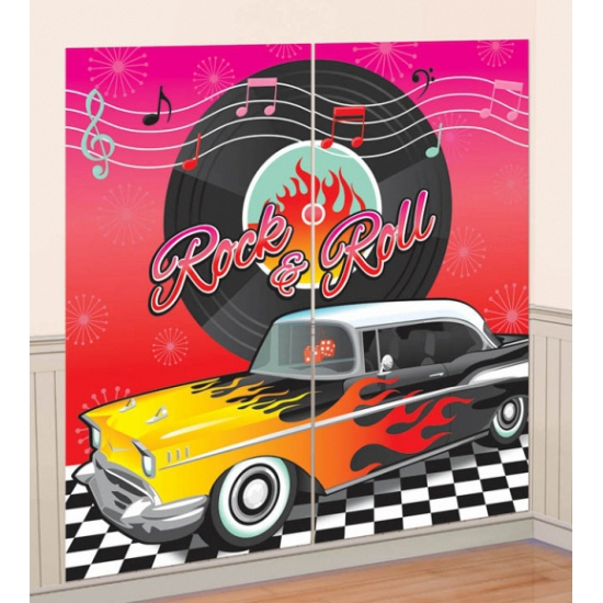 Grease thema scene setter 165 x 82 cm