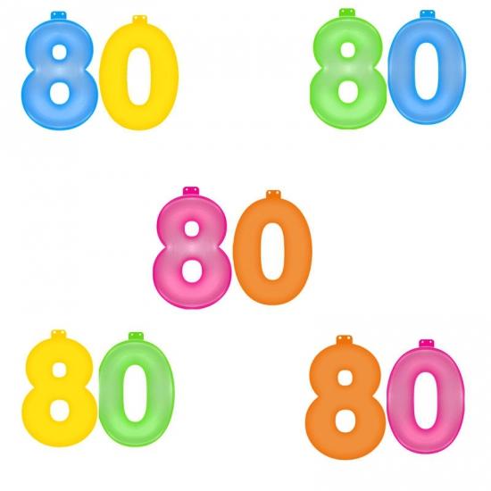 Groen opblaascijfer 80