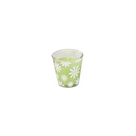 Groene citronella geurkaars 8 cm