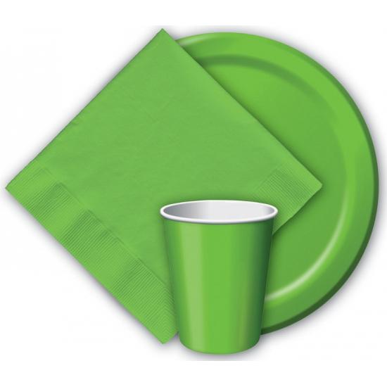 Groene feest bordjes 8 stuks