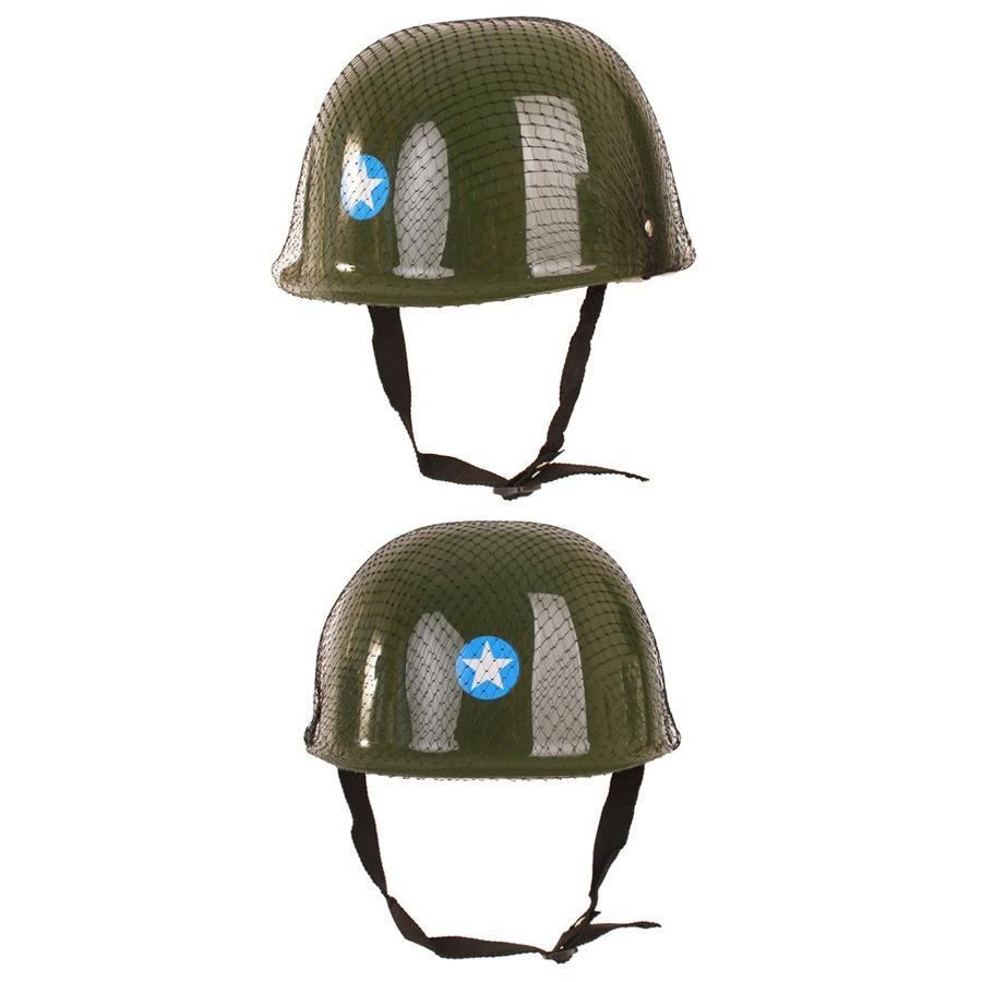 Groene leger helm voor kinderen