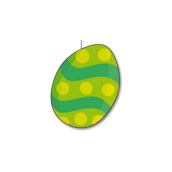 Groene paasei decoratie 20 cm