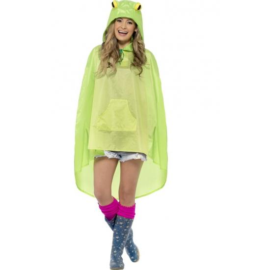 Groene party poncho kikker