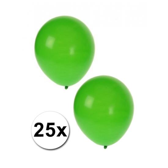 Groene thema ballonnen 25 stuks