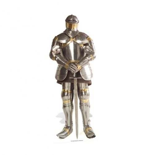 Groot decoratie bord ridder 186 cm