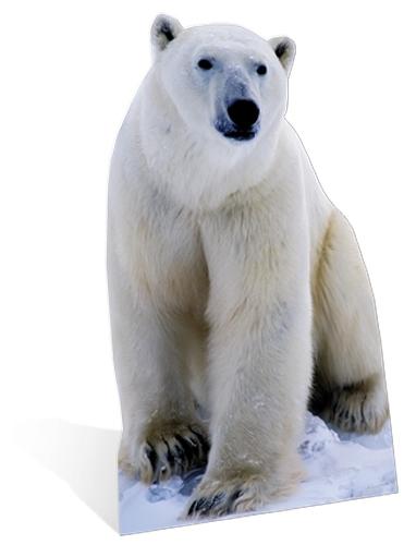 Groot decoratiebord van een ijsbeer