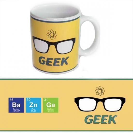 Grote beker computer nerd