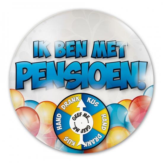 Grote button Ik ben met pensioen