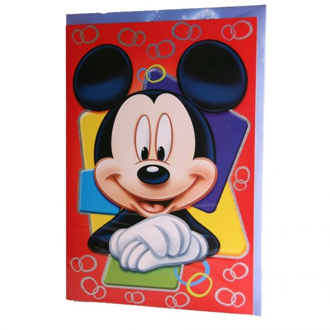 Grote Mickey Mouse verjaardagskaart