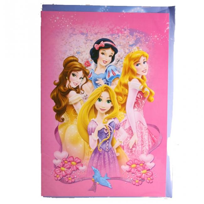 Grote verjaardagskaart Princess 26 x 38 cm