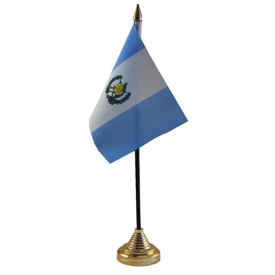 Guatemalaanse tafelvlag met standaard