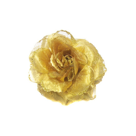 Haar accessoire gouden bloem