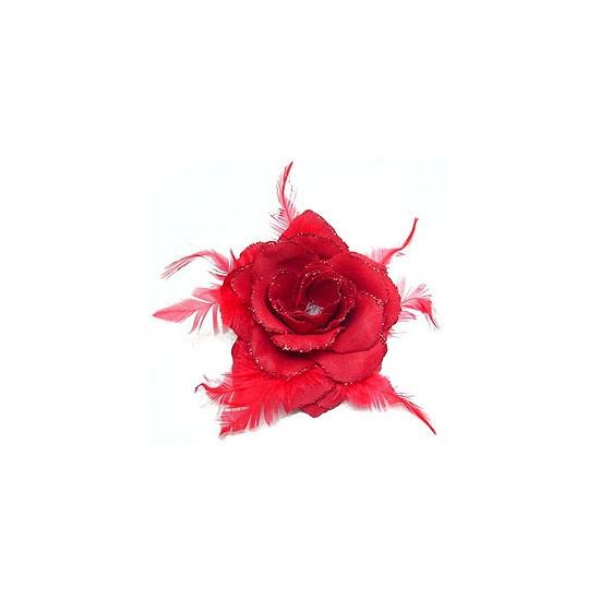 Haar accessoire rode bloem