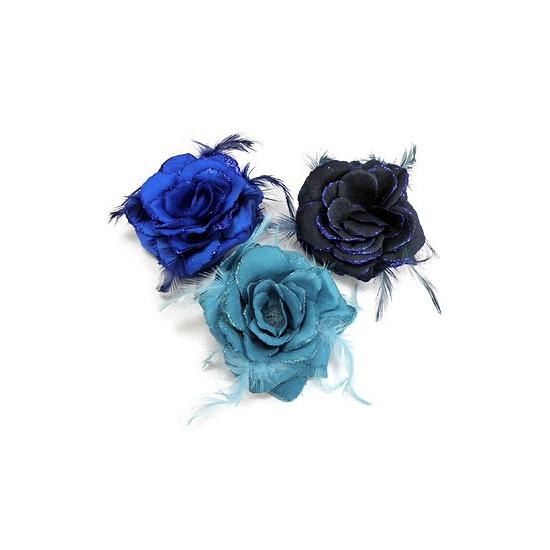 Haar accessoire roos blauw kleuren