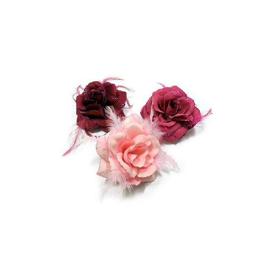 Haar accessoire roos roze kleuren