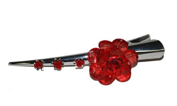 Haarclip met rozen 13 cm