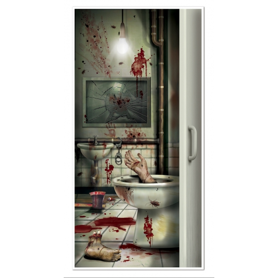Halloween deurposter bloed badkamer