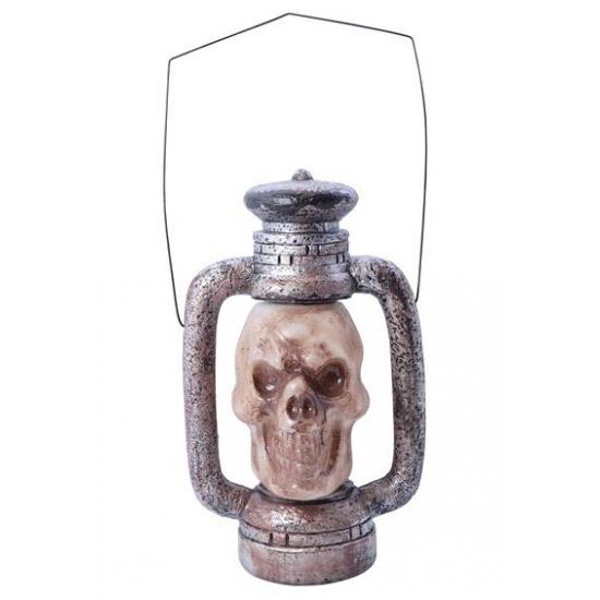 Halloween Doodshoofd lantaarn met LED verlichting