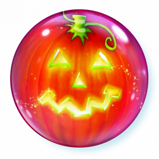 Halloween Folie ballon pompoen 56 cm