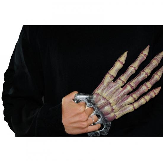 Halloween hand van een skelet