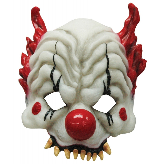 Halloween Horror clown half masker