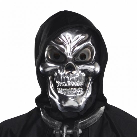 Halloween Schedel 3D masker zilver