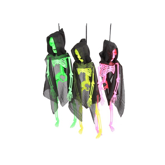 Halloween skelet in neon kleuren