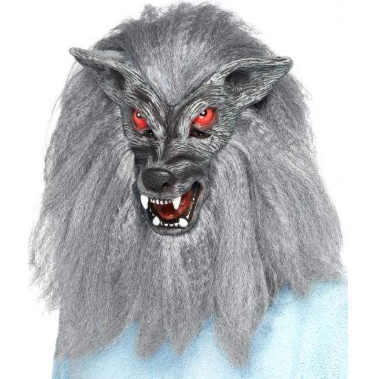 Halloween Weerwolf masker grijs