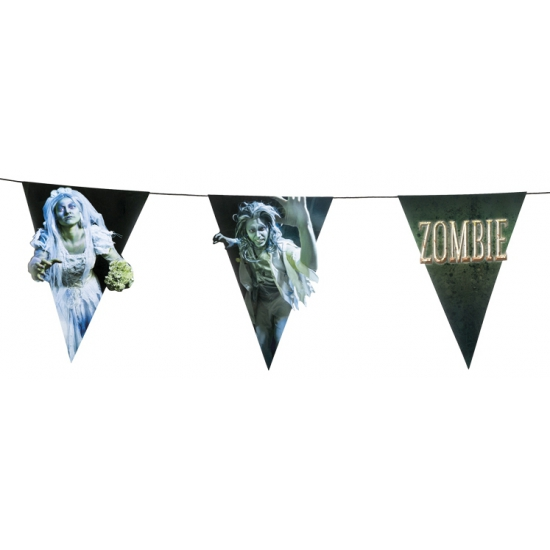 Halloween Zombie vlaggenlijn 4 meter