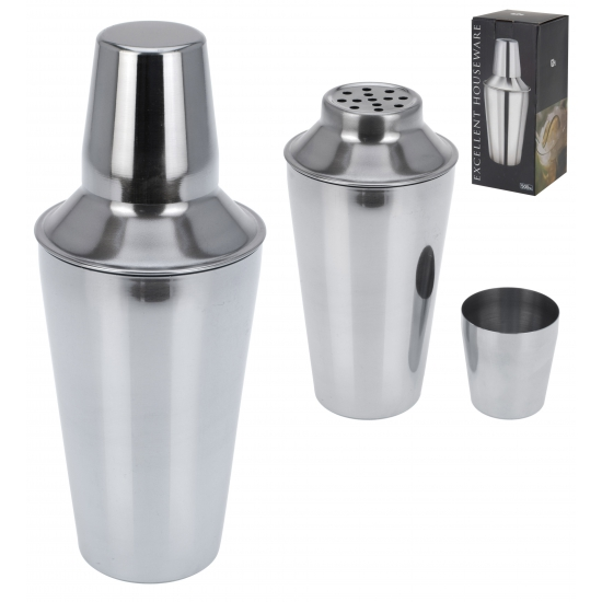 Halve liter cocktail shaker RVS