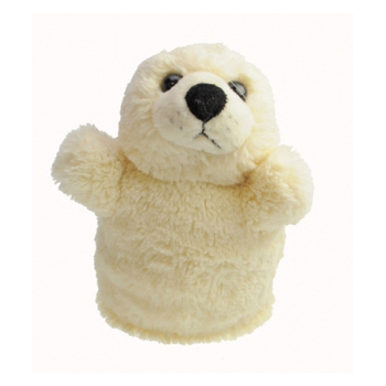 Handpoppetjes zeehond 23 x 16 cm