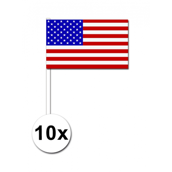 Handvlag Amerika set van 10