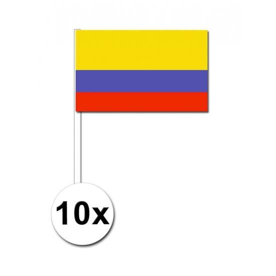 Handvlag Colombia set van 10