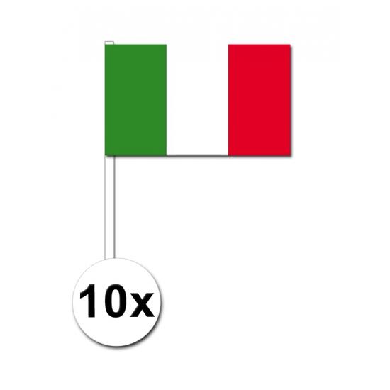 Handvlag Italie set van 10