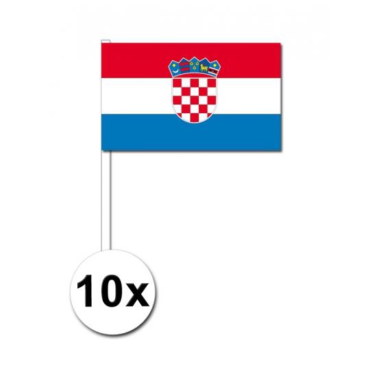 Handvlag Kroatie set van 10