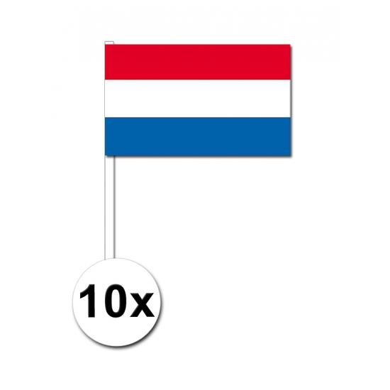 Handvlag Nederland set van 10