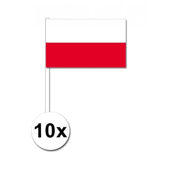 Handvlag Polen set van 10