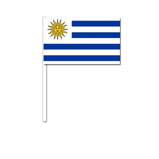 Handvlag Uruguay 12 x 24 cm