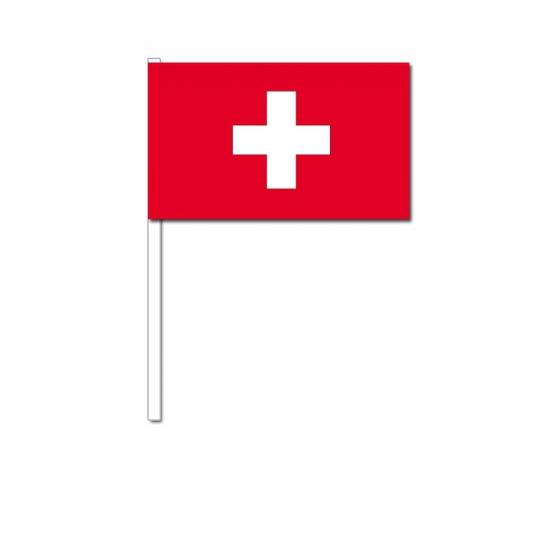 Handvlag Zwitserland 12 x 24 cm