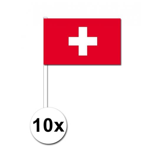 Handvlag Zwitserland set van 10