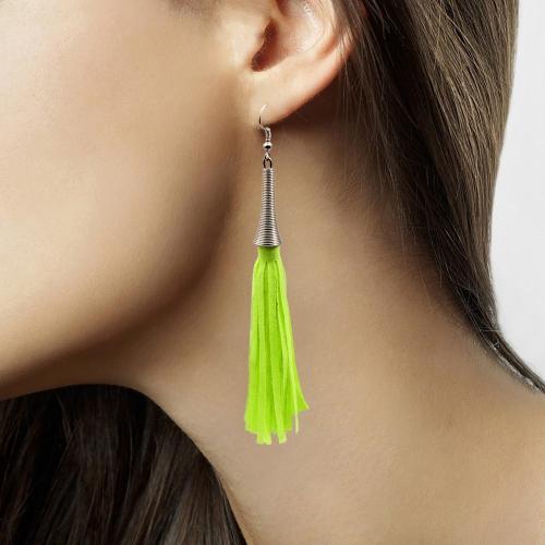 Hang oorbellen neon groen