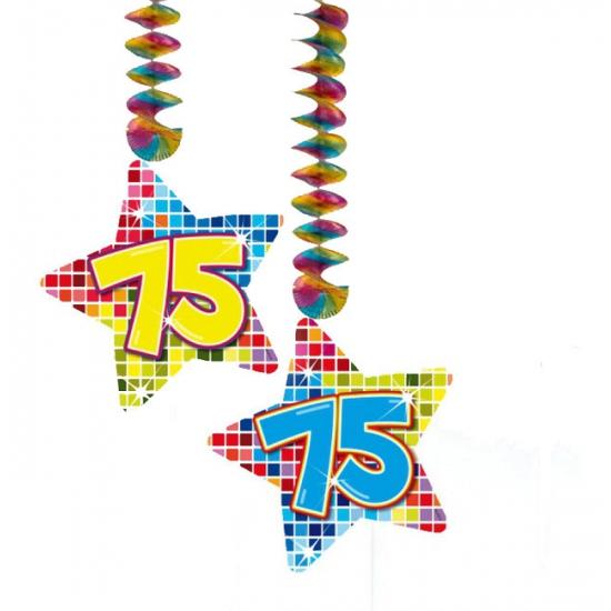 Hangdecoratie 75e verjaardag