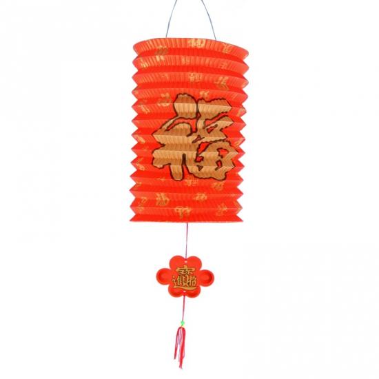 Hangdecoratie gelukslampion 20 cm