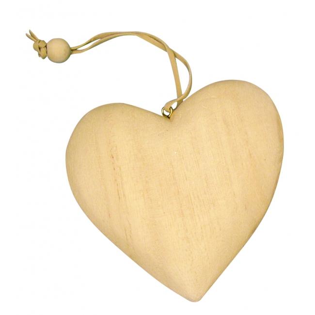 Hangdecoratie houten hobby hart