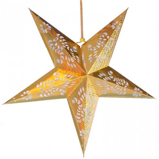 Hangdecoratie ster goud 60 cm